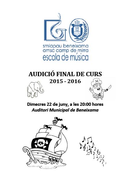 Audicio fi de curs 2015/2016