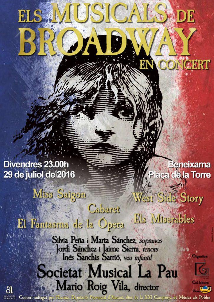Concert d'estiu de la Societat Musical La Pau de Beneixama - ELS MUSICALS DE BROADWAY EN CONCERT