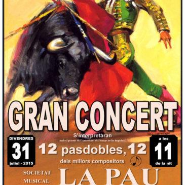 Gran Concert d'estiu S.M la Pau de Beneixama 2015