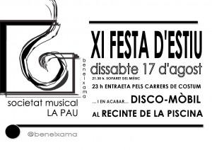 XI Festeta Banda 2013 Cartell