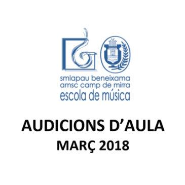 Audicions d'aula Març 2018