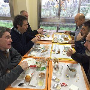Esmorzant a l'alberg - Aranjuez